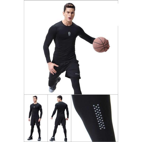 夏用メンズ ランパン ランショーツ 上下セット2/3点 吸汗速乾半袖Tシャツ ジムトレーニングウェア ランニングウェア ジョギング 男性用 マラソン スポーツウエア|fairyhouse0000|09