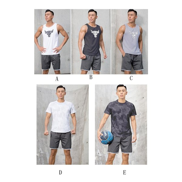 夏用 メンズ ランパン ランショーツ 上下セット 吸汗速乾 半袖Tシャツ ジム トレーニングウェア ランニングウェア ジョギング 男性用 マラソン スポーツウエア|fairyhouse0000|02