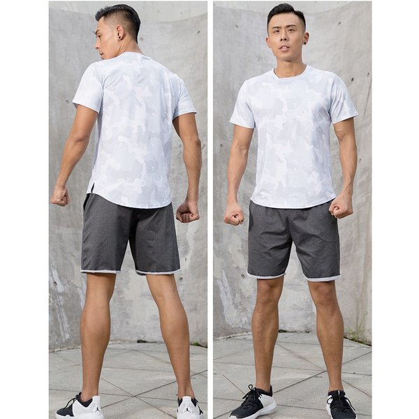 夏用 メンズ ランパン ランショーツ 上下セット 吸汗速乾 半袖Tシャツ ジム トレーニングウェア ランニングウェア ジョギング 男性用 マラソン スポーツウエア|fairyhouse0000|05