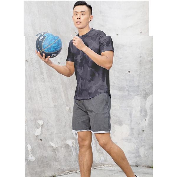 夏用 メンズ ランパン ランショーツ 上下セット 吸汗速乾 半袖Tシャツ ジム トレーニングウェア ランニングウェア ジョギング 男性用 マラソン スポーツウエア|fairyhouse0000|06