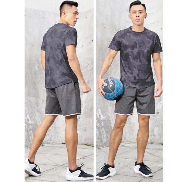 夏用 メンズ ランパン ランショーツ 上下セット 吸汗速乾 半袖Tシャツ ジム トレーニングウェア ランニングウェア ジョギング 男性用 マラソン スポーツウエア|fairyhouse0000|07