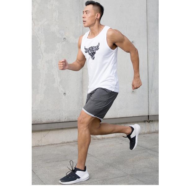 夏用 メンズ ランパン ランショーツ 上下セット 吸汗速乾 半袖Tシャツ ジム トレーニングウェア ランニングウェア ジョギング 男性用 マラソン スポーツウエア|fairyhouse0000|08