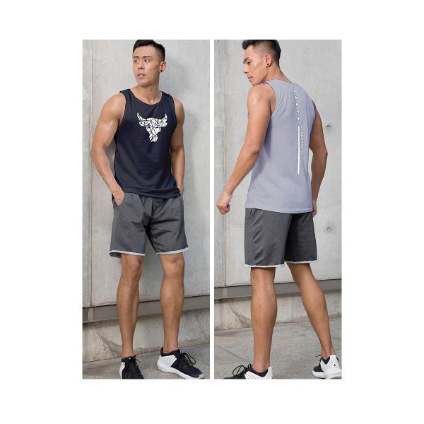 夏用 メンズ ランパン ランショーツ 上下セット 吸汗速乾 半袖Tシャツ ジム トレーニングウェア ランニングウェア ジョギング 男性用 マラソン スポーツウエア|fairyhouse0000|10