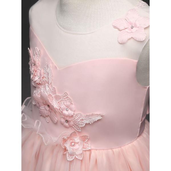 d0950c18cca11 ... 子供ドレス ロング ピアノ発表会 チュール ワンピース 子どもドレス フォーマル 七五三 ジュニアドレス ピンク 紫