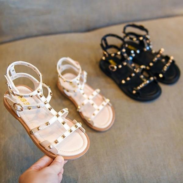 子供靴 キッズサンダル 女の子 お姫様靴 姫系 滑りにくい 軽く 子供サンダル 子ども靴 オシャレ キッズ グラディエーターサンダル 2色 17 18 19 20 21 22