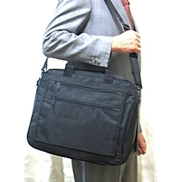 B4サイズ対応大型2WAYビジネスバッグ ブラック