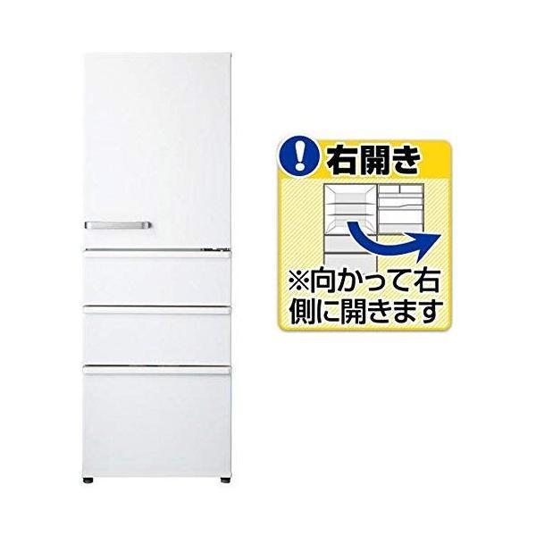 アクア 355L 4ドア冷蔵庫(ナチュラルホワイト)右開きAQUA AQR-36G-W