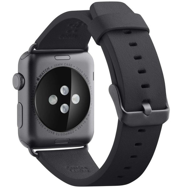 belkin Apple Watch用(シリーズ1,2,3,4) レザーバンド 38mm イタリアンレザー 牛革 ブラック 国内正規品 F8