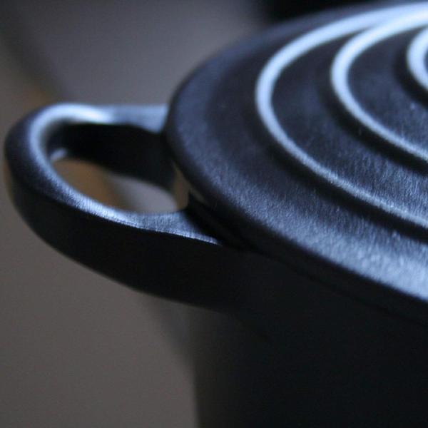 ルクルーゼ ココット ロンド ホーロー 鍋 IH 対応 22cm マットブラック 2101-22-00