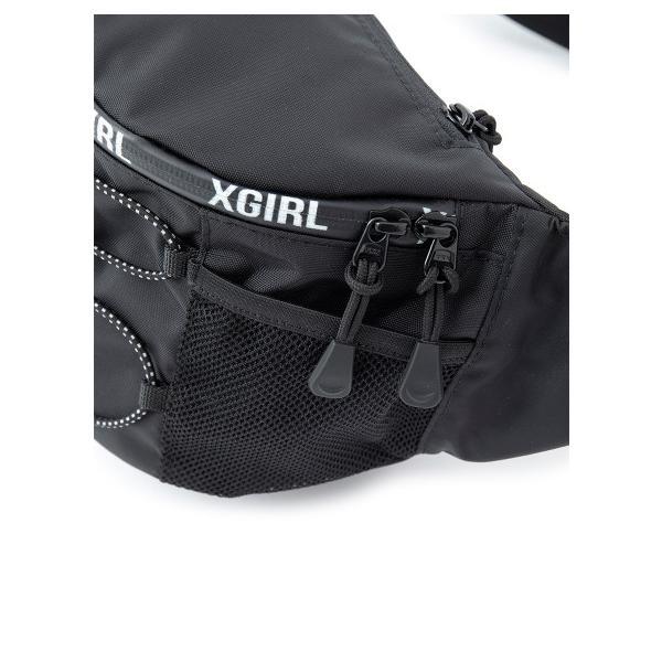 X-girl エックスガール ZIP LOGO HIP BAG ジップロゴ ヒップ バッグ ショルダー アウトドア フェス カバン レディース ブランド