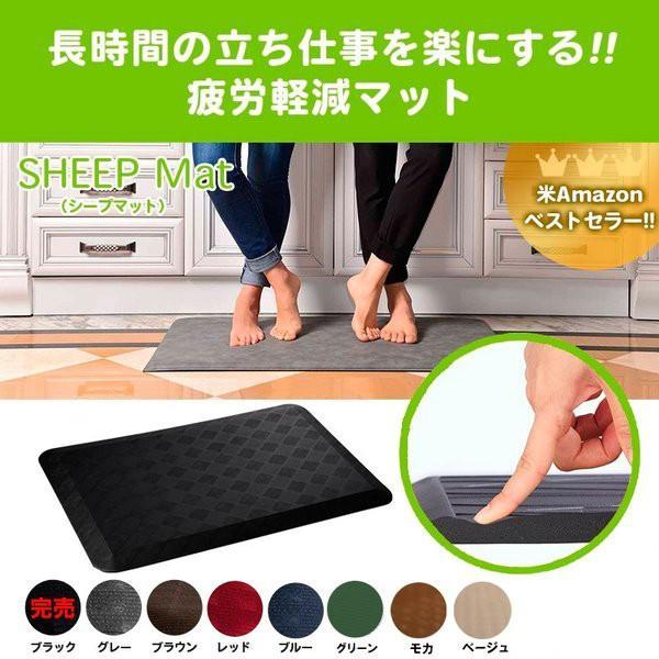 在庫限り 全米シェアNo,1疲労軽減マット 50cm×76cm×19mm 足腰に優しい低反発 簡単に洗える 耐水・耐油・耐冷・耐滑 床暖房対応|fami-renovation