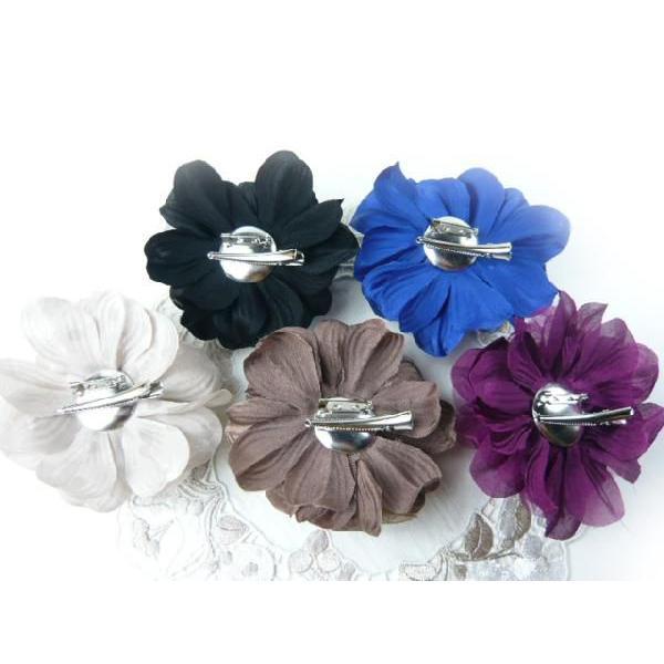 コサージュ&ヘアクリップ2WAY ふわふわ大輪のバラ 髪飾り 花飾り 帯飾り 髪留め 和装小物 ウエディング フォーマル familiamia 02
