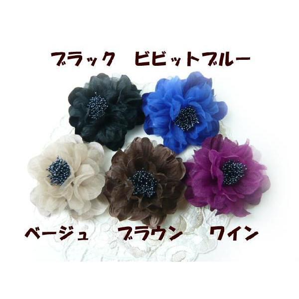 コサージュ&ヘアクリップ2WAY ふわふわ大輪のバラ 髪飾り 花飾り 帯飾り 髪留め 和装小物 ウエディング フォーマル familiamia 03