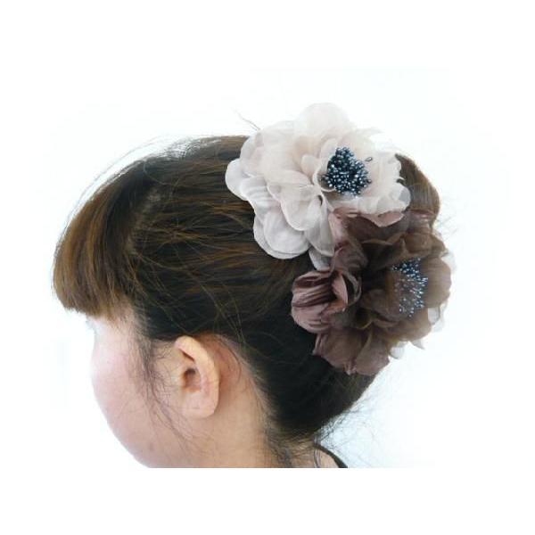 コサージュ&ヘアクリップ2WAY ふわふわ大輪のバラ 髪飾り 花飾り 帯飾り 髪留め 和装小物 ウエディング フォーマル familiamia 04