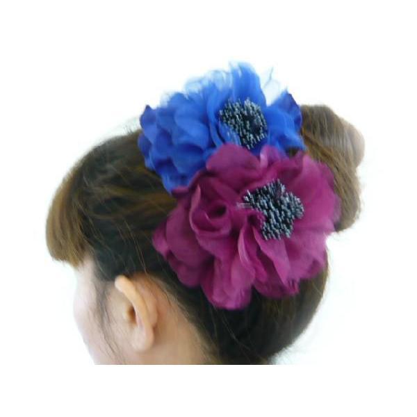 コサージュ&ヘアクリップ2WAY ふわふわ大輪のバラ 髪飾り 花飾り 帯飾り 髪留め 和装小物 ウエディング フォーマル familiamia 05