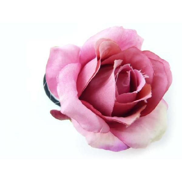 髪飾り 清楚な美しさシングルローズのポニー6580(1個) ヘアーアクセサリーにもなる手作りの造花|familiamia|02
