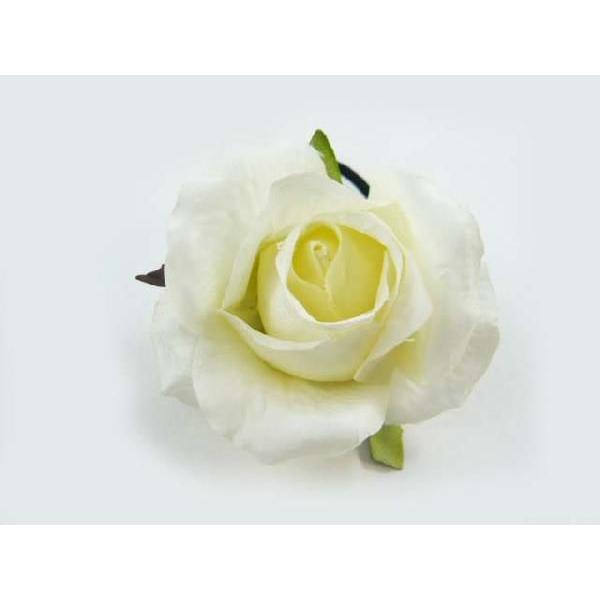 髪飾り 清楚な美しさシングルローズのポニー6580(1個) ヘアーアクセサリーにもなる手作りの造花|familiamia|03