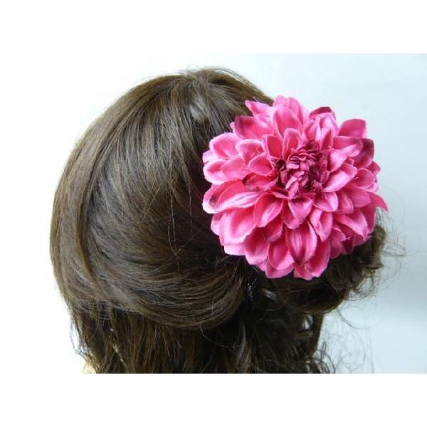 髪飾り ヘアーアクセ 和風ダリア コサージュ&ヘアクリップ2way|familiamia|03