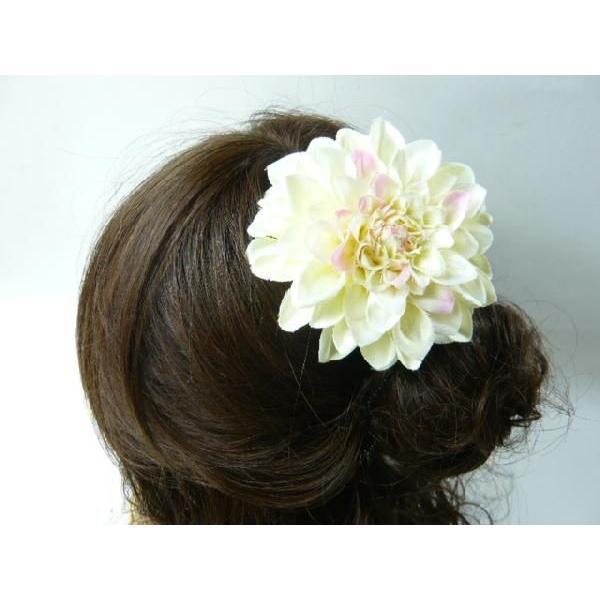 髪飾り ヘアーアクセ 和風ダリア コサージュ&ヘアクリップ2way|familiamia|04