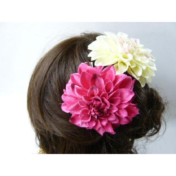 髪飾り ヘアーアクセ 和風ダリア コサージュ&ヘアクリップ2way|familiamia|05