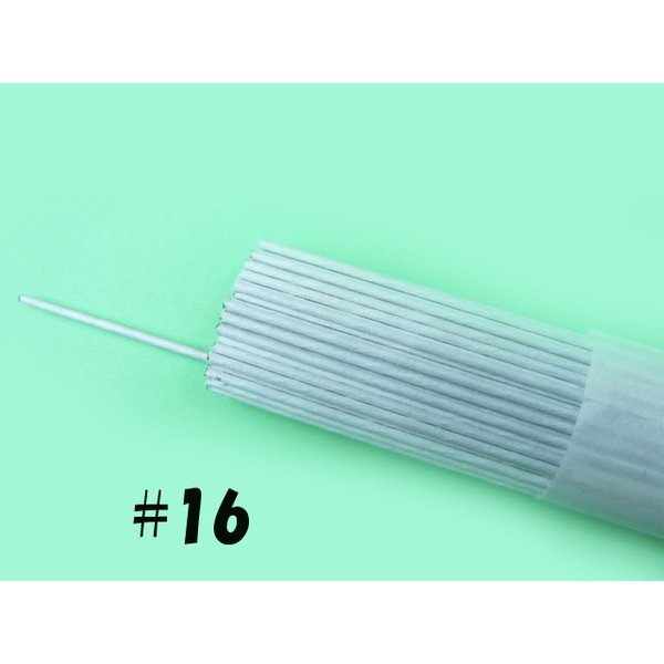 地巻ワイヤー (紙巻ワイヤー) #16白 36cm(100本) 花材 針金 アートフラワー(造花)の茎にな便利に使える