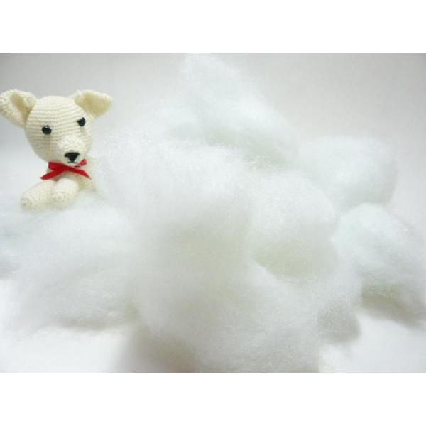 手芸 綿 クラフト綿(化繊綿)100g わた つめ綿 クリスマス 雪 スノー ぬいぐるみや編みぐるみに|familiamia