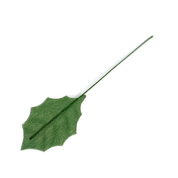 リーフ ヒイラギ M ベルベット緑  造花 クリスマス|familiamia|02