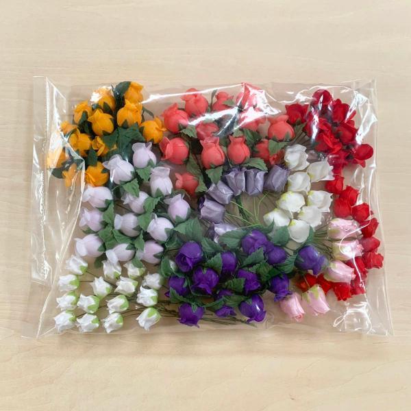造花 「ミニローズと小花」アソートセット100本入り (1セット) アートフラワー familiamia 07