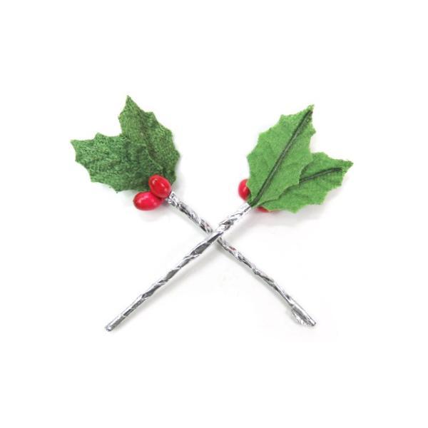 クリスマスケーキ 飾り  オーナメント FX-2 緑のヒイラギ (10本入) familiamia 02