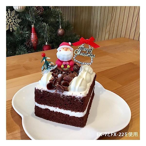 クリスマスケーキ 飾り  オーナメント FX-7  ビーズがお洒落なメリークリスマスと赤いリボン (10本入)|familiamia|03