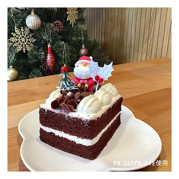 クリスマスケーキ 飾り  オーナメント FX-24 白のヒイラギ (10本入)|familiamia|03