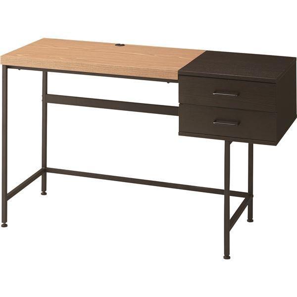 ディフ デスク (収納棚付きデスク) スチール 幅120cm×奥行50cm×高さ72cm PT-902BK ブラック (黒)