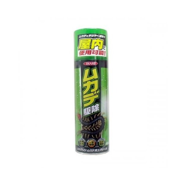 イカリ消毒 ムシクリン ムカデ用エアゾール 480ml|family-tools