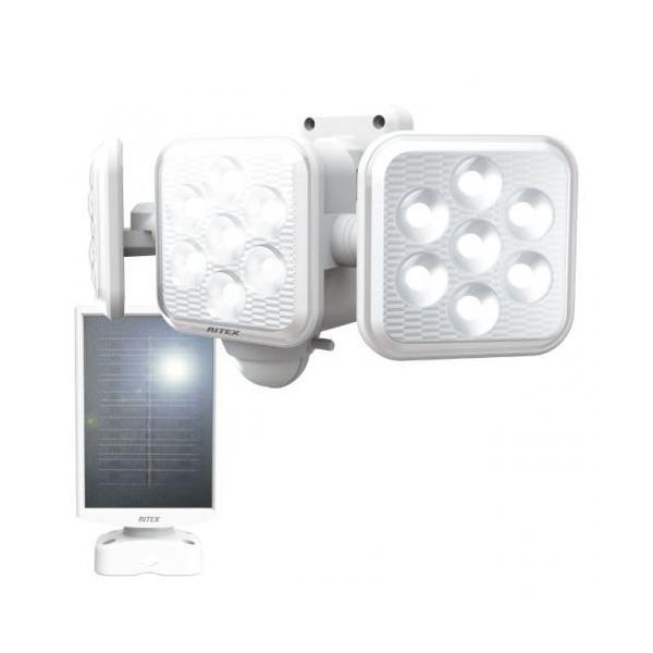センサーライト musashi ムサシ ライテックス 5W×3灯 フリーアーム式LEDソーラーセンサーライト S-330L