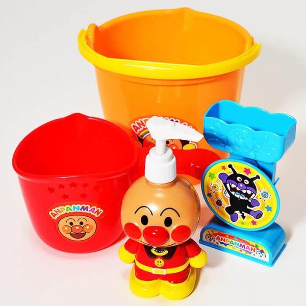 アンパンマン お風呂バケツセット 水遊び お風呂遊び おもちゃ 玩具 セット おふろ お風呂 お風呂で遊ぼう|fan-fare|02