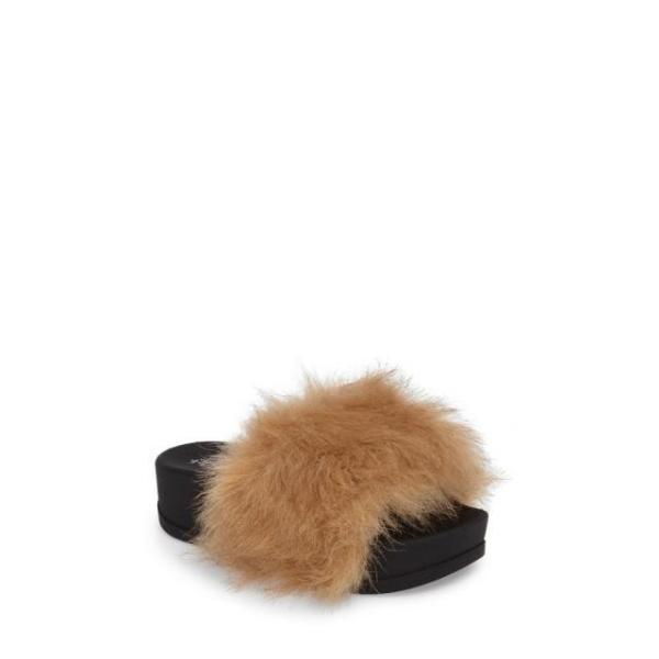 ジェフリーキャンベル レディース シューズ サンダル Jeffrey Campbell Lucky Me Faux Fur Flatform Slide (Women)|fancyowl