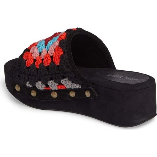 ジェフリーキャンベル レディース シューズ サンダル/シューズ Jeffrey Campbell Nonna Crocheted Platform Slide Sandal (Women)|fancyowl|04