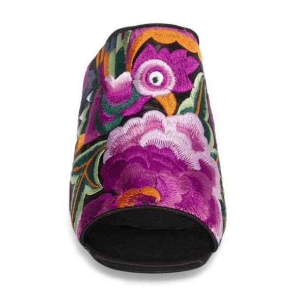 ジェフリーキャンベル レディース シューズ サンダル Jeffrey Campbell Perpetua Embroidered Open-Toe Mule (Women) fancyowl 04