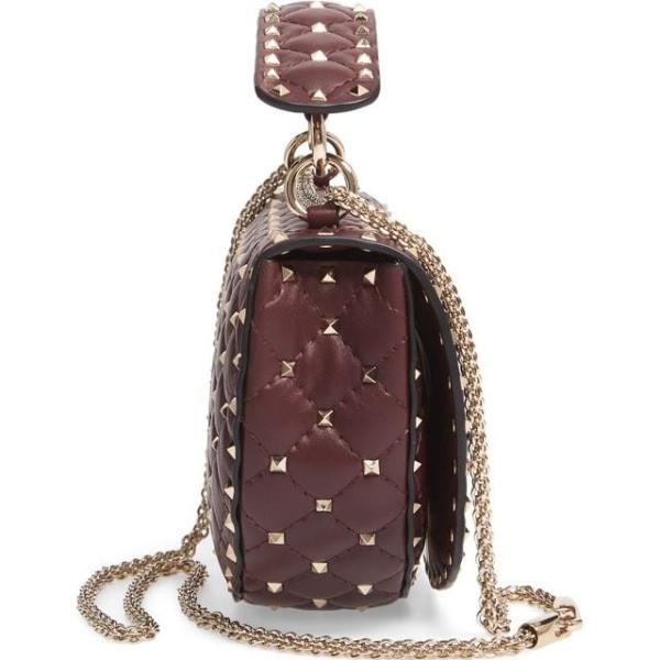 ヴァレンティノ レディース バッグ  VALENTINO GARAVANI Rockstud Spike Leather Saddle Bag