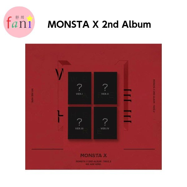 10 MONSTA X 2nd Album Take.2 WE ARE HERE Unit Type-7 Photo Card K-POP