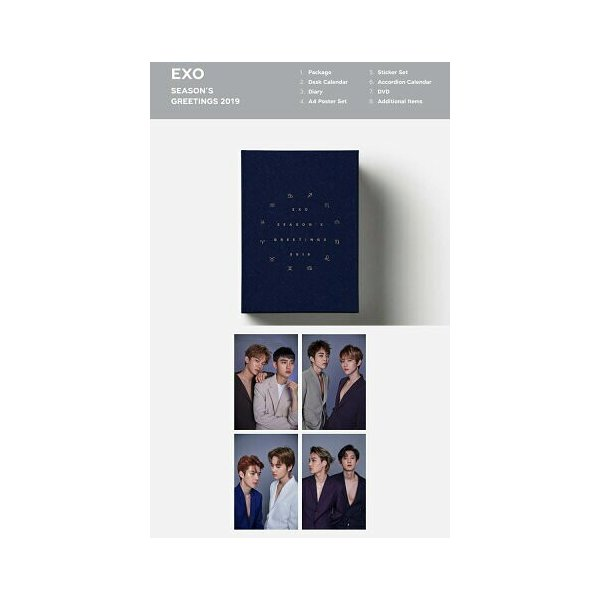 SM ARTIST SEASON'S GREETINGS 2019 TVXQ 東方神起 SUPERJUNIOR SHINee EXO SNSD RedVelvet NCT アーティスト選択 2019 seasons greeting シーグリ smtown|fani2015|06