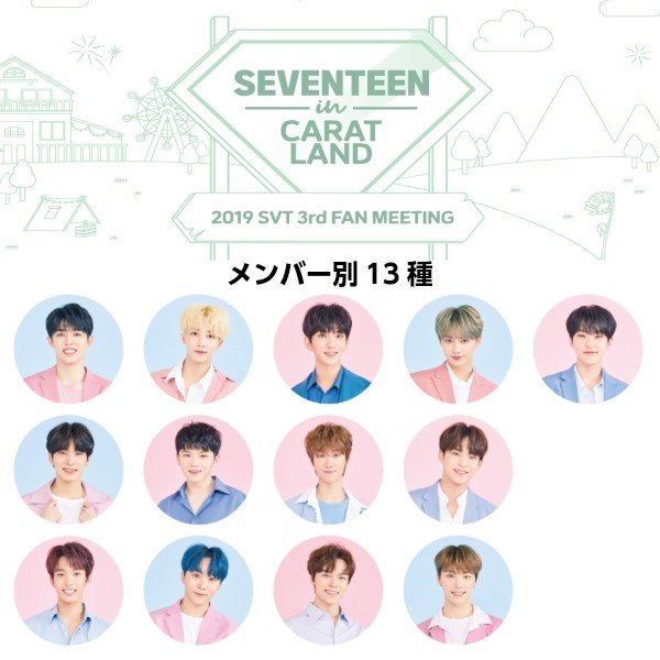 SEVENTEEN(セブンティ-ン)ピケットPICKET【2019 SEVENTEEN in CARATLAND OFFICIAL GOODS】3rd FAN MEETING 公式グッズ【メンバー別】|fani2015|02