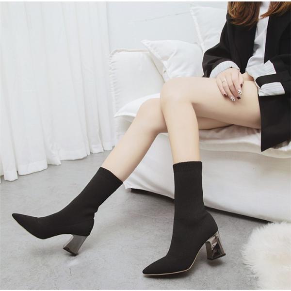 選べる2丈!ショートブーツ ソックスブーツ 靴 シューズ レディース ムートンブーツ  秋 大きいサイズ 冬 暖かい かわいい おしゃれ ソックスシューズ