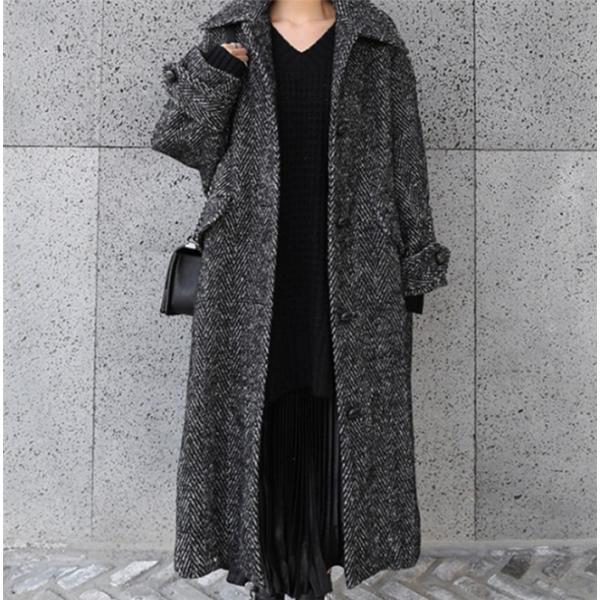 チェスターコート レディースコート チェスターコート ロング 超ロング エレガント 大きいサイズ コート アウター 厚手 高品質 韓国ファション|fanshopmatsuda|02