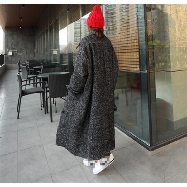 チェスターコート レディースコート チェスターコート ロング 超ロング エレガント 大きいサイズ コート アウター 厚手 高品質 韓国ファション|fanshopmatsuda|03