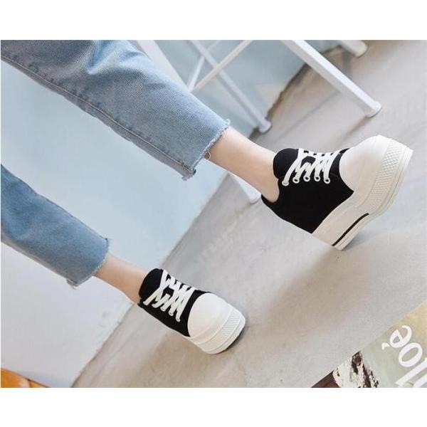 スニーカー シューズ レディース 靴 厚底 紐靴 シンプル 歩きやすい カジュアル ローカット