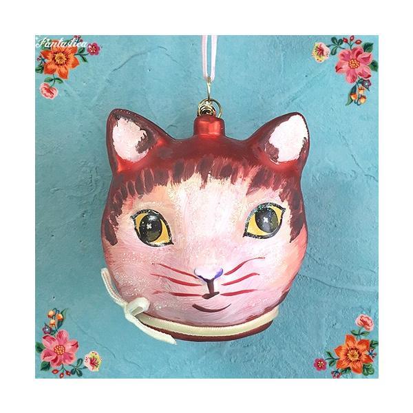 RoomClip商品情報 - ナタリー・レテ オーナメント レッド・キャット・ヘッド 赤トラ猫のフェイス・オーナメント