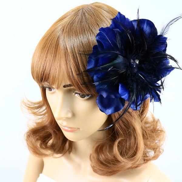 コサージュ 入学式 コサージュ フォーマル 2way ヘッドドレス フェーザー コサージュ 大輪 結婚式 髪飾り fh12031cn