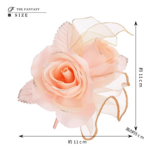 コサージュ 薔薇 入学式 フォーマル コサージュ 入園式 花 オーガンジー コサージュ ばら 結婚式 fh9008spk