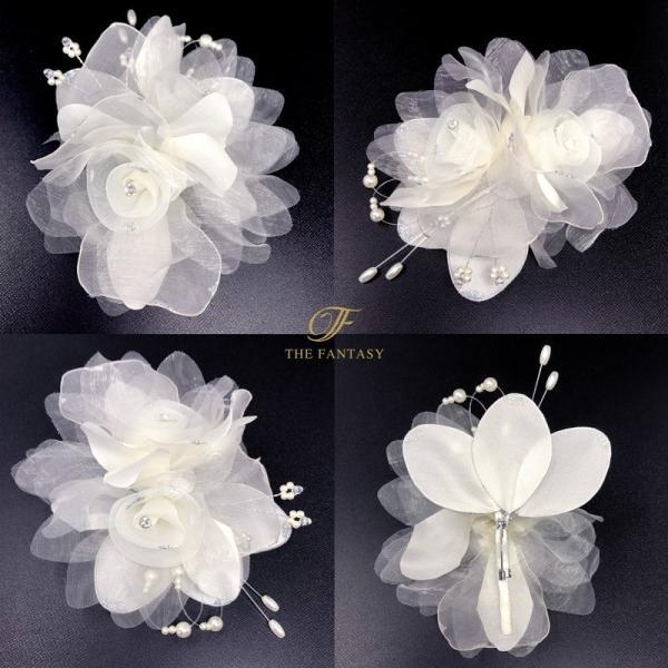 コサージュ  入学式 フォーマル コサージュ 入園式 花 オーガンジー コサージュ 桜の花 結婚式 fh9016cm